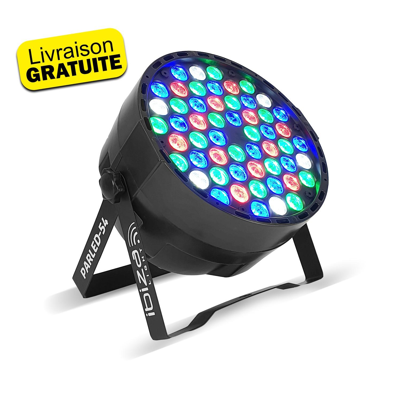 Projecteur à LED 54 LED RGBW - 8 canaux DMX