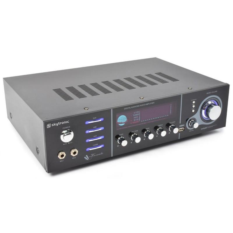 Skytronic AV-320 - récepteurs AV (Banana connector/Binding posts, Surround, Avec fil, MP3, RCA, SD)