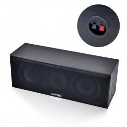 Ensemble 5 enceintes E1004 Noire Hifi / Home-Cinéma 850W LTC + Amplificateur ATM8000 Karaoke USB/BT/FM / 4 x75W + 3 x20W