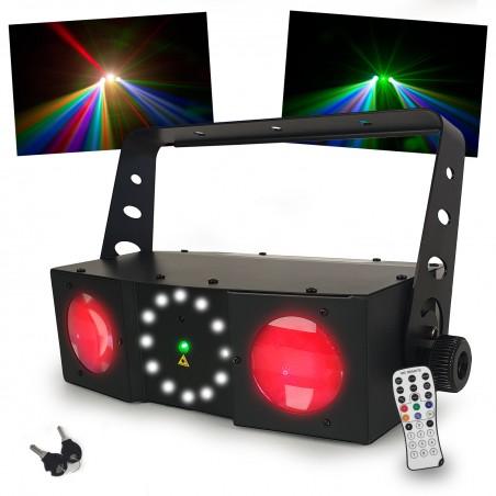 Jeu de lumière 3 effets en 1 - Moonflower laser et stroboscope - DMX