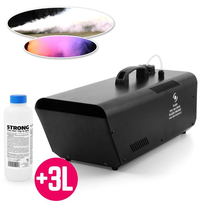 Machine à fumée 1500W - DMX - Télécommandes filaire + sans fil - Flash F1700066-HAZER + 3L de liquide