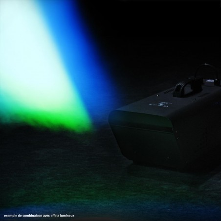Machine à fumée 1500W DMX - 2 Télécommandes filaire - Flash F1700066-HAZER + 1L + Projecteur 25W LED Avengers PL-103