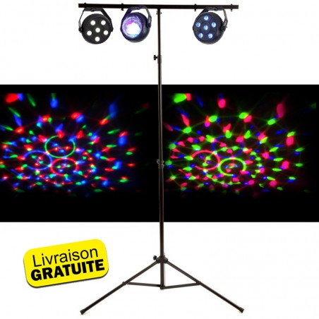 3 Pack light effects LED - RGB Astro BY RGB Strobe + Portico T-Bar