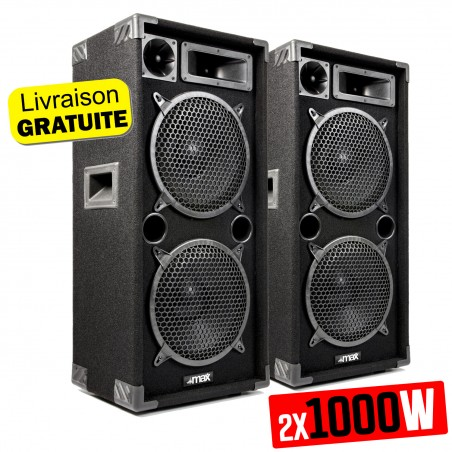 "A pair of passive speakers Sono Boomers 2x 10 ""2x 1000W - MAX MAX210"