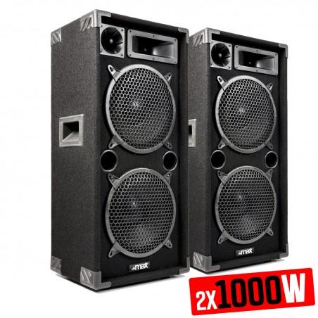 "Paire d'enceintes passives Sono Boomers 2x 10"" de 2x 1000W - MAX MAX210"