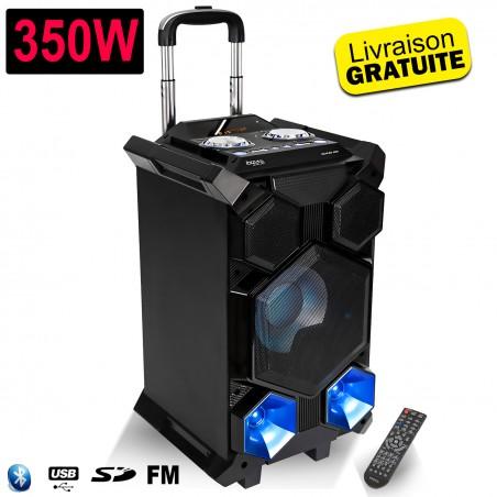 System SOUND BOX SPLBOX350 PORT LED Portable Autonomous 350W with USB SD Bluetooth FM / REC / MEGA BASS