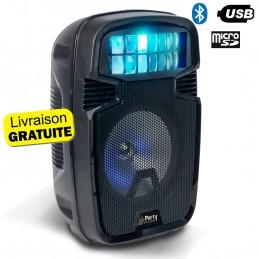 """ENCEINTE Sono Portable AUTONOME 8""""/20CM 300W - USB/SD/BT/AUX/ECHO - AVEC EFFET DERBY - PARTY-8COMBI"""