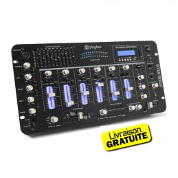 Table de mixage Skytec STM-3007 6 canaux BT/SD/USB/MP3/LED