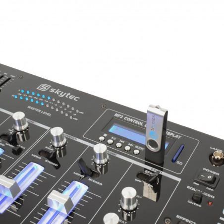 Table de mixage Skytec STM-3007 6 canaux BT/SD/USB/MP3/LED