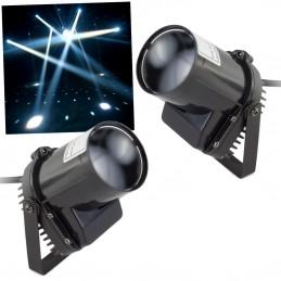 Pack 2 spots à LED Blanc de 5W pour Dj's ou Déco