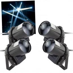 Pack 4 spots à LED Blanc de 5W pour Dj's ou Déco