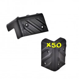 Lot de 50 coins de protection pour enceinte en plastique noir SP-CR1
