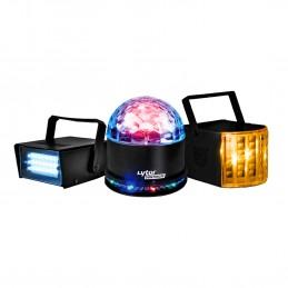 Pack 3 jeux de lumière Zirkus effet Derby + SunMagic ASTRO/UFO + Strobe - Lytor PACK RENO