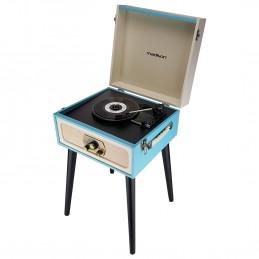 Meuble tourne-disques vintage crème/bleu - BLUETOOTH/TUNER FM - MADISON MAD-LPRETRO