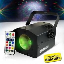 Jeu de lumière Faisceaux multicolores Flower Burst RGB - LED 9W + Télécommande