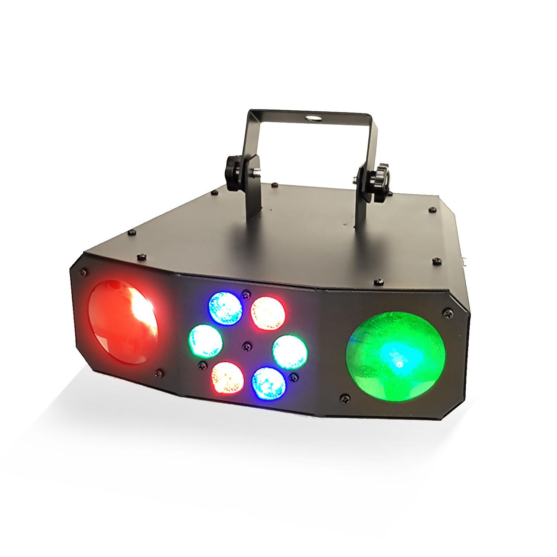 Jeu de lumière Dual flower avec effet Wash - 60 LED RGB - 2 x Moonflower : 54 x LED RGB