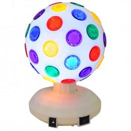 """Jeu de lumière - Boule Disco à LEDs RVB 8""""/20 cm 360° - Ibiza Light DL8LED-WH"""