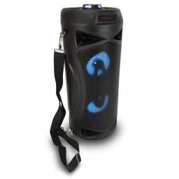 Enceinte nomade PARTY BAZOOKA à LED - USB/SD/BT -