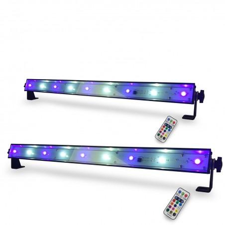 Pack 2 Bars Led HQ Power slim light - UV wash effect with white strobe