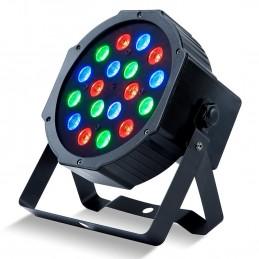 Jeu de lumière - Projecteur PARTY-PAR181 PAR à LED 18x1W RGB - 7 canaux DMX