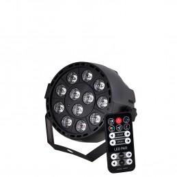 Projecteur PAR à LEDs RGB3 12X3W 3-en-1 DMX Strobe IBIZA LIGHT