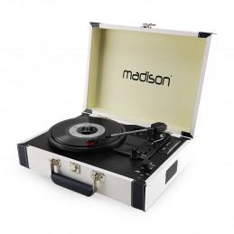 Malette tourne-disques - BT/USB/SD/FONCTION ENREGISTREMENT - Crème - MADISON RETROCASE-CR