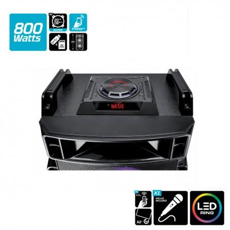 Enceinte active SOUNDMAGIC 800 - LED - USB/SD + Micro et Télécomande