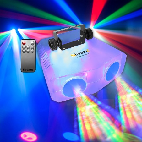 Jeu de lumière Transparent DJ BEAMZ NOMIA 114LED RGBAW