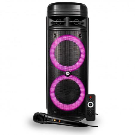 Autonomous pregnant FestiSound SFX 206 LED - USB / SD / BT + Micro and telecomande-Battery 3600 mAh