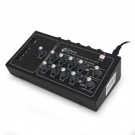 Mini mixer Sphynx PM-120-MP3 - 8 channels + USB / MP3