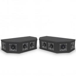 Pack 2 Systèmes de haut-parleurs 6 tweeters Top Box Piezo Noir - Soundlab 50W