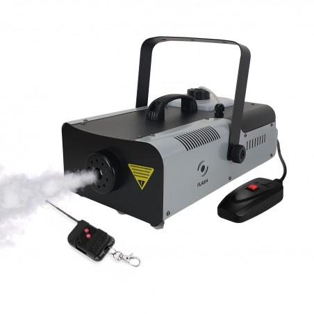 Flash FLM1500 smoke machine 1320W - Capacity 2,25L + 2 Control system (wired / wireless) and retaining bracket