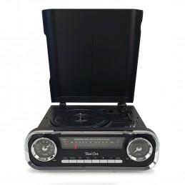 Fast Car Platine vinyles noire vintage Retro - Bluetooth