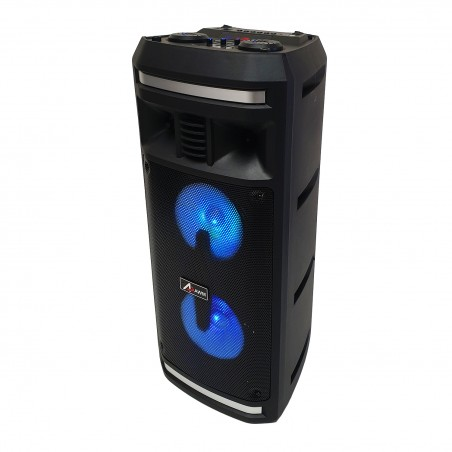 leds standalone speaker AWM ED-606 battery BT / FM / AUX / SD / USB - 300 watts + Micro Wireless