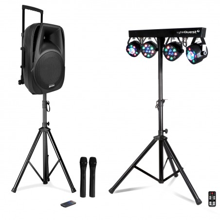 Active Gemini ES-12TOGO mobile speaker with battery - 600 W - USB - Bluetooth + FOOT + Portico Xperformer