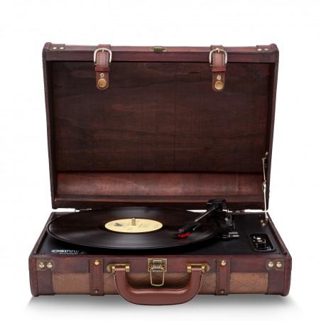 Suitcase Vinyl turntable - Integrated Stereo Speakers - 3 playback speeds: 33/45/78