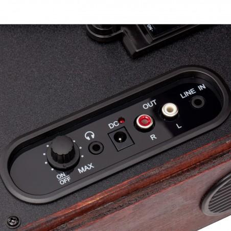 Valise tourne-disque Vinyle - Haut-parleurs Stéréo intégrés - 3 vitesses de lecture: 33/45/78