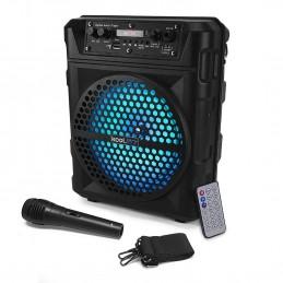 """Enceinte KoolStar SOUNDKUB08 autonome à LED - 200W 8"""" - USB/SD/BT + Micro + Télécommande"""