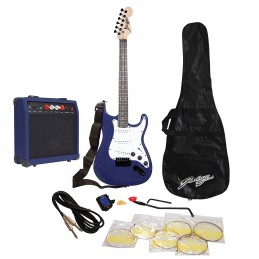 Pack Johnny Brook JB405 - Guitare électrique avec amplificateur 20 Watts - Bleu