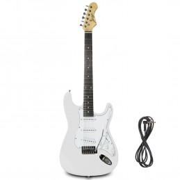 Guitare Electrique Johnny Brook Blanche + Câble Jack 6.35mm