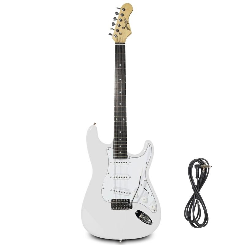 Guitare Electrique Johnny Brook Blanche + Câble Jack 6.35mm