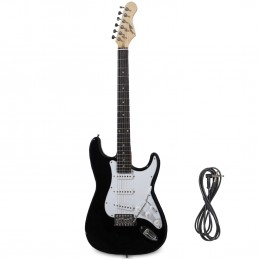 Guitare Electrique Johnny Brook Noire + Câble Jack 6.35mm