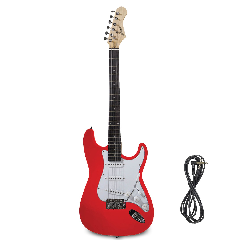 Guitare Electrique Johnny Brook Rouge + Câble Jack 6.35mm