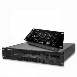Pack sonorisation amplificateur 2000W SA2000 + Table de mixage 3 voies 5 entrées MIX800