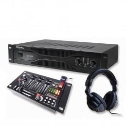 Pack PA amplifier 700W +...