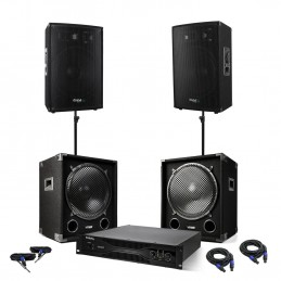 Pack PA - 2 2x1200W boxes +...
