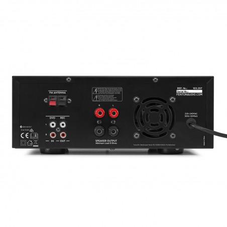 Amplificateur Fenton AV120FM-BT - 2x 60W  avec entrée micros, USB / BLUETOOTH