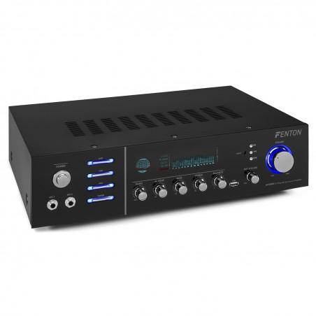 Skytronic AV-320-BT - AV receivers (Banana Connector / Binding Posts, Bluetooth, Surround, with LAN, MP3, CAR, SD)