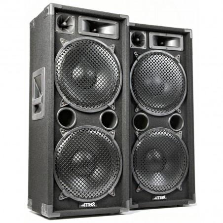 """PA Speakers MAX-212 2x1400W passive bass reflex 3-way 2x12 """""""