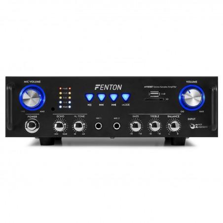 Amplificateur Stereo Hifi FENTON AV-100BT Karaoke USB SD MP3 Bluetooth - 2 entrées micro